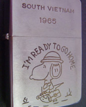 A Soldier's Zippo Lighter from Vietnam War