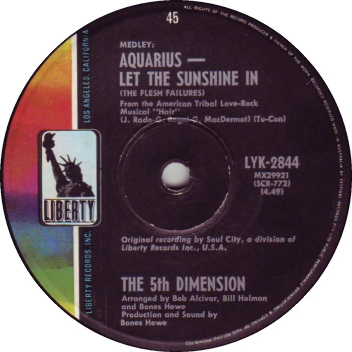 """Medley Aquarius Let The Sunshine In"" by The 5th Dimension"