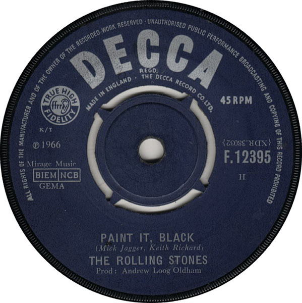 The Rolling Stones Paint It Black