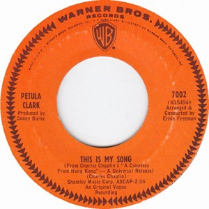 """Record of """"This is My Song"""" by Petula Clark"""