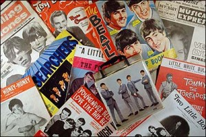 A collection of records of Sixties music