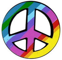 Peace Sign rainbow colors