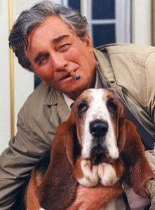 Peter Falk as Lt Columbo with Dog