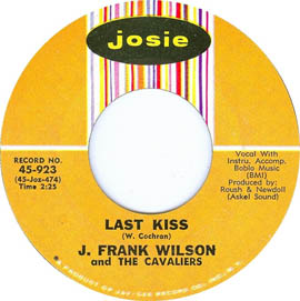 J Frank Wilson Cavaliers Last Kiss