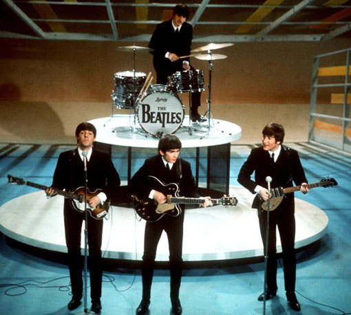 The Beatles on Ed Sullivan 1964